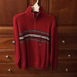 NWT boys red sweater. Warm and soft